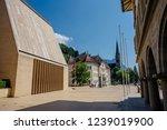 the main square of vaduz ...   Shutterstock . vector #1239019900