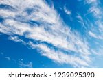 Cirrostratus cloouds on blue sky background