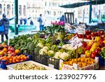 Market Stall With Vegetables...
