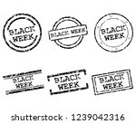 black week stamps | Shutterstock .eps vector #1239042316