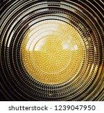 fresnel lens. spotlight with...   Shutterstock . vector #1239047950