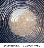 fresnel lens. spotlight with...   Shutterstock . vector #1239047959