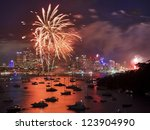 Firework In Sydney New Year Ev...
