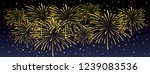 brightly new year fireworks... | Shutterstock .eps vector #1239083536