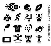american football icons | Shutterstock .eps vector #123908950