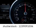 a modern car odometer cluster... | Shutterstock . vector #1239091036