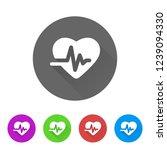 ekg   app icon | Shutterstock .eps vector #1239094330