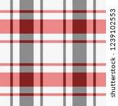 christmas and new year tartan... | Shutterstock .eps vector #1239102553