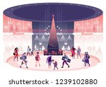 new year's and christmas eve... | Shutterstock .eps vector #1239102880