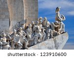 monument to the discoveries...   Shutterstock . vector #123910600