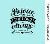 hand lettering rejoice in the... | Shutterstock .eps vector #1239113353
