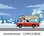 santa driving rv truck for... | Shutterstock .eps vector #1239113836
