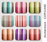 striped squares. colorful apps...
