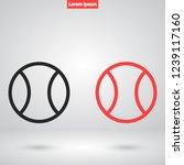tennis vector icon 10 eps | Shutterstock .eps vector #1239117160