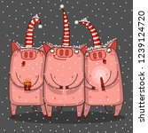 Trio Of Pigs Are Singing A...