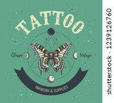 tattoo studio poster. classic... | Shutterstock .eps vector #1239126760