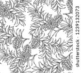 seamless pattern with hand... | Shutterstock .eps vector #1239132073