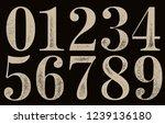 old vintage numerals.   Shutterstock .eps vector #1239136180