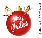 santa claus and reindeer...   Shutterstock .eps vector #1239149503