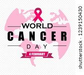world cancer day  poster | Shutterstock .eps vector #1239150430