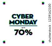 cyber monday design. discount   ... | Shutterstock .eps vector #1239162100