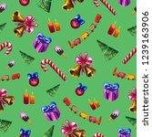 bright christmas watercolor... | Shutterstock . vector #1239163906