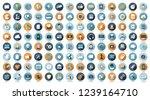 flat design business icon set  | Shutterstock .eps vector #1239164710