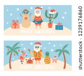 christmas holiday cute greeting ... | Shutterstock .eps vector #1239176860