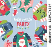 christmas holiday cute ugly... | Shutterstock .eps vector #1239176869
