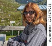 franz senn hutte  2 147 m asl ... | Shutterstock . vector #1239179236