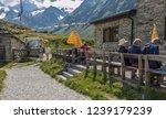 franz senn hutte  2 147 m asl ... | Shutterstock . vector #1239179239