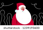 santa claus vector art. cartoon ... | Shutterstock .eps vector #1239193600