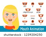 mouth lip sync set | Shutterstock .eps vector #1239204250