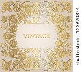 elegant vintage frame with... | Shutterstock .eps vector #123920824