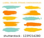 graphic label brush stroke... | Shutterstock .eps vector #1239216280