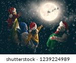 merry christmas and happy... | Shutterstock . vector #1239224989