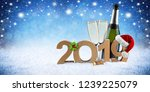 happy new year 2019 number with ...   Shutterstock . vector #1239225079