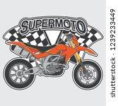 extreme supermoto design logo... | Shutterstock .eps vector #1239233449