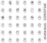 flat line icons set of human... | Shutterstock .eps vector #1239237166