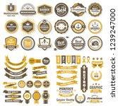 vintage retro vector logo for... | Shutterstock .eps vector #1239247000