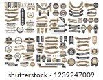 vintage retro vector logo for... | Shutterstock .eps vector #1239247009
