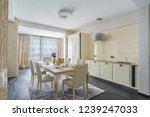 interior of light spacious... | Shutterstock . vector #1239247033