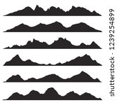 mountains silhouettes on the... | Shutterstock .eps vector #1239254899