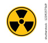 reproduction of radioactive... | Shutterstock . vector #1239257569