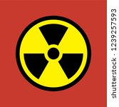 reproduction of radioactive... | Shutterstock . vector #1239257593