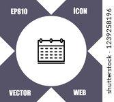 calendar icon vector   Shutterstock .eps vector #1239258196