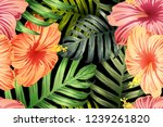 green red exotic pattern....   Shutterstock .eps vector #1239261820