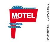 advertising for motel sign... | Shutterstock .eps vector #1239265579