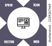 pc monitor graphic design icon...