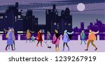 a group of young urban warmly... | Shutterstock .eps vector #1239267919